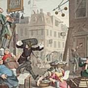Beer Street, Illustration From Hogarth Art Print