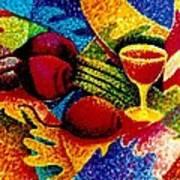 Beet Salad Pointillism Art Print