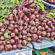 Beets At The Farmers Market Art Print
