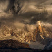 Before The Storm Covers The Mountains Spikes Art Print