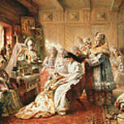 Before The Wedding, 1890 Oil On Canvas Art Print