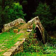 Beggars Bridge In Glaisdale North Yorkshire Art Print