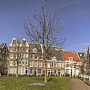 Begijnhof Medieval Courtyard Of Beguines In Amsterdam The Nethe Art Print
