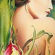 Behind The Curtain Of Colours -the Tulip Art Print