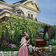 Behind The Garden Gate Art Print by Linda Simon