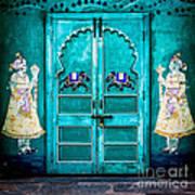 Behind The Green Door Art Print