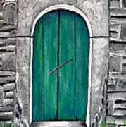 Behind The Green Door Art Print