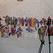 Behind The Scenes Mural 7 Art Print