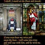 Behold I Stand At The Door And Knock Composite Art Print