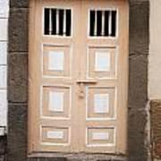 Beige Double Doors Art Print