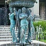 Beiger Mansion Fountain  Mishawaka Indiana Art Print