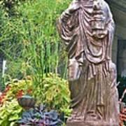 Beiger Mansion Statue Art Print
