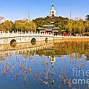 Beijing Beihai Park And The White Pagoda Art Print