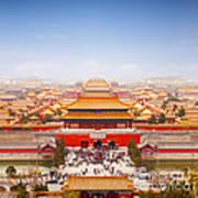 Beijing Forbidden City Skyline Art Print by Colin and Linda McKie