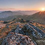 Sunset From Beinn Ghlas - Scotland Art Print