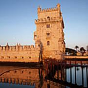 Belem Tower At Sunrise In Lisbon Art Print