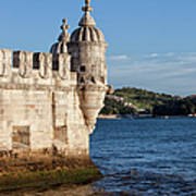 Belem Tower Fortification On The Tagus River Art Print