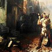 Belgian Ferdinand Pauwels The Plague In Ypres Art Print
