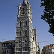 Belgium. Ghent. Bell Tower Of The City Art Print