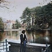Belgium Reflections In Water Art Print