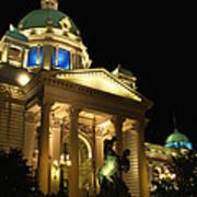 Belgrade Parliament  Art Print