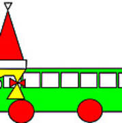 Belinda the Bus wishes you a Merry Christmas Art Print