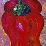 Red Bell Pepper Takes Center Stage Art Print