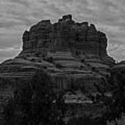 Bell Rock In Black White Art Print