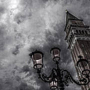 Bell Tower And Street Lamp Art Print