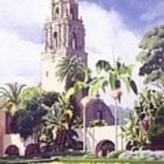 Bell Tower In Balboa Park Art Print