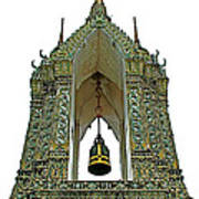 Bell Tower In Wat Po In Bangkok-thailand Art Print
