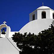 Bella Santorini Island Church Greece  Art Print