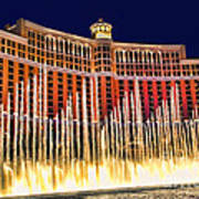 Bellagio Water Show Art Print