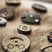 Beloved Buttons  Art Print