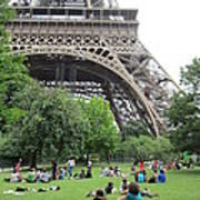 Below The Eiffel Tower Art Print