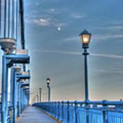 Ben Franklin Bridge Walkway Art Print