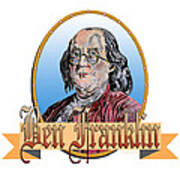 Ben Franklin Art Print by John Keaton