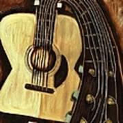 Bending Strings Guitar Art Print Art Print