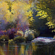 Bending With The River Art Print