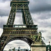 Beneath The Eiffel Tower Art Print