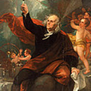 Benjamin Franklin Drawing Electricity From The Sky Art Print
