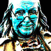 Benjamin Franklin - Historic Figure Pop Art By Sharon Cummings Print by Sharon Cummings