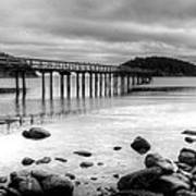 Bennet Bay Pier Black And White Art Print