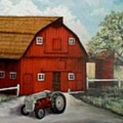 Bens Barn Art Print by Kendra Sorum