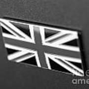 Bentley Badge In Black Art Print
