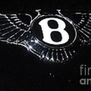 Bentley Logo Hood Ornament #  2 Art Print