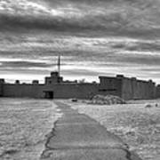 Bents Old Fort - Bw Art Print