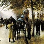 Beraud, Jean 1849-1935. The Boulevards Art Print by Everett