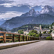 Berchtesgaden Road And Mountain Art Print