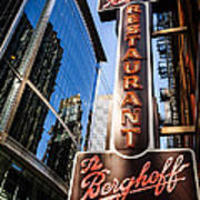 Berghoff Restaurant Sign In Downtown Chicago Art Print